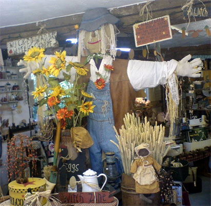 Scarecrow in a shop